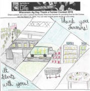 Naomi, 11, of Fox Lake, was the age 10-12 winner for the Ag in the Classroom National Ag Day drawing contest.