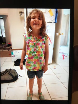 Elizabeth Jessica Shelley, 5, was last seen around 2 a.m. Saturday.