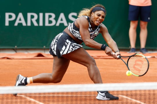 Serena Williams debuts zebra-striped outfit in bold fashion statement at French Open