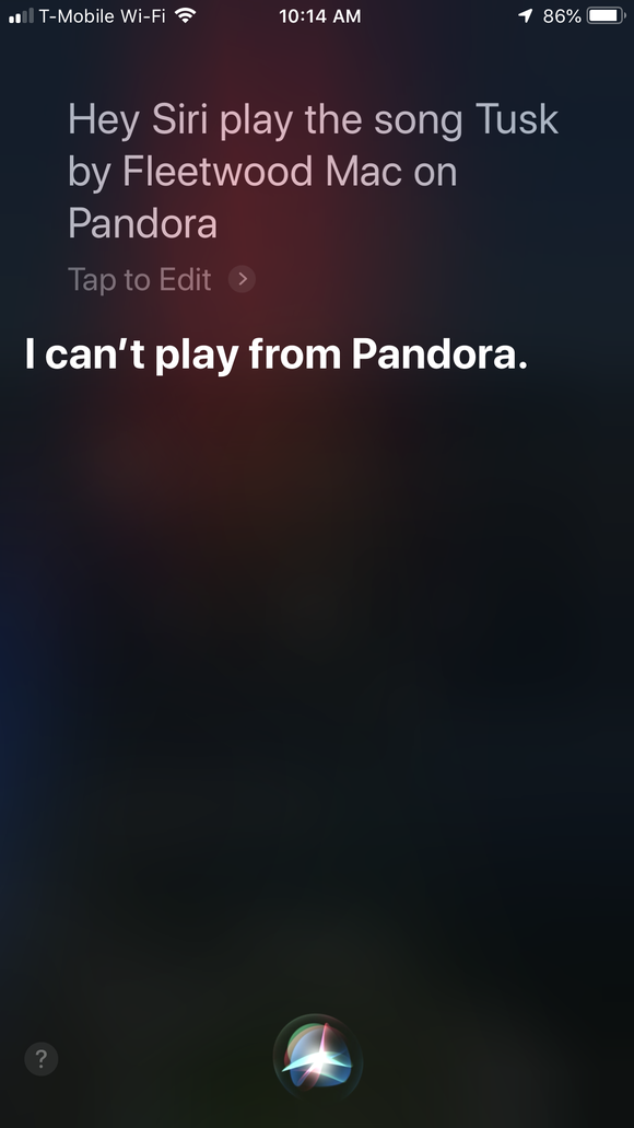 Siri can only play music from Apple Music