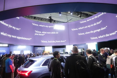 At the Amazon CES booth in 2019, the e-tailer showed off many products that work with Alexa.