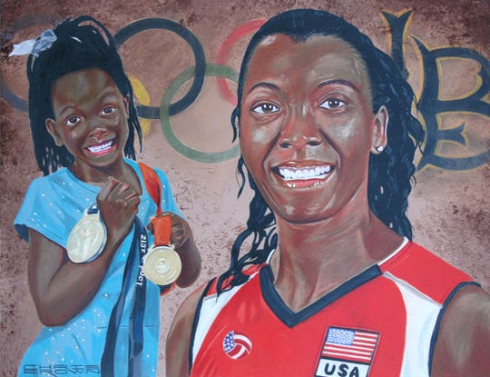 Danielle Scott's official Louisiana Sports Hall of Fame portrait.