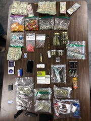 Drugs seized during an undercover bust by Pennsylvania state police at the Elements Lakewood Music & Arts Festival.