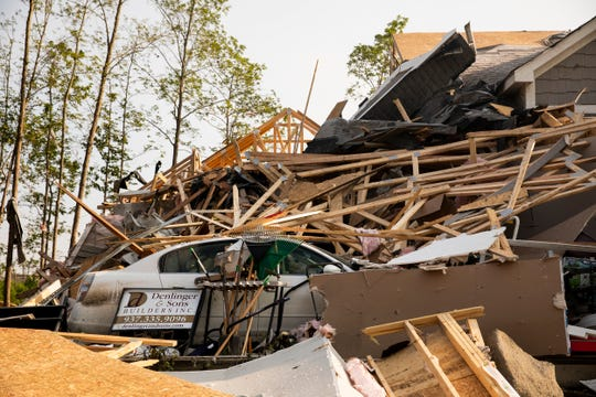 Jason Stephan and his family moved into their new home last month. Tornadoes touched down in Brookville, Ohio, and destroyed their home and numerous others Tuesday.
