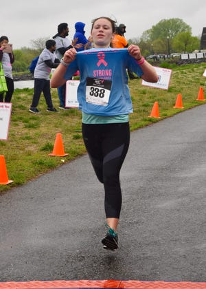 23-year old Alyssa Schwartz of Belle Mead took home the 3rd Place medal in the Women's Division at the 2019 Susan G. Komen North Jersey Race for the Cure on Sunday, May 5.