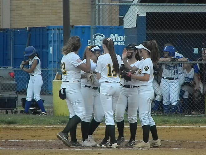 The Montgomery softball team fell to Hightstown 3-2 in the Central Group IV final on Tuesday, May 28, 2019.
