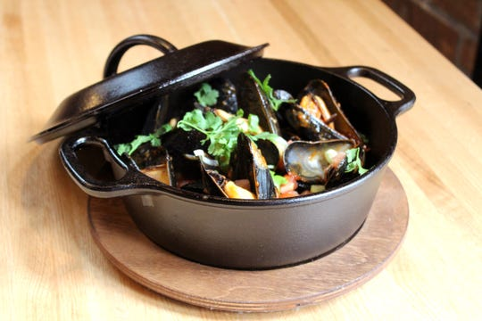 Stemaed mussels from Malo's new menu for summer 2019.