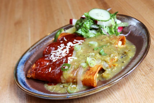 Enchiladas from Malo's new menu for summer 2019.