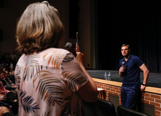 U.S. Rep. Justin Amash (R-MI) holds a Town Hall Meeting on May 28, 2019, in Grand Rapids.