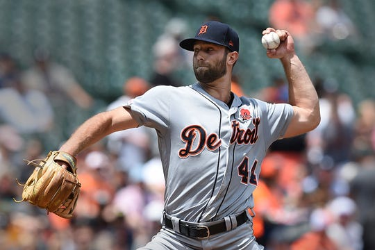 Detroit Tigers pitcher Daniel Norris throws against the Baltimore Orioles in the first inning Monday.