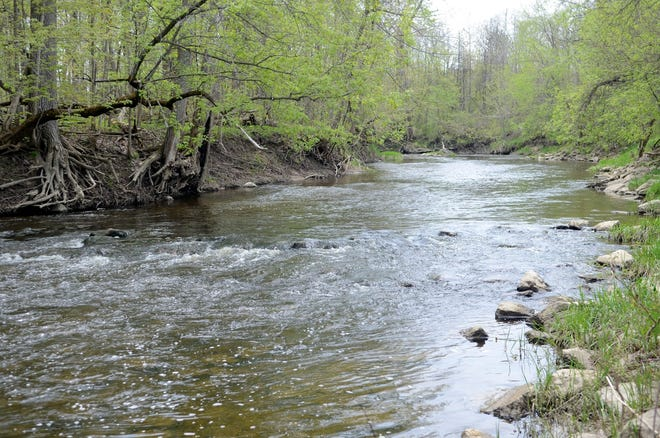 This May 2019 photo shows the Belle River in Columbus Township, Mich.