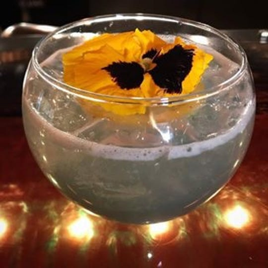 The Speakeasy cocktail at the Jawbone in White Sulphur Springs is particularly popular. It's made with crème de violette.