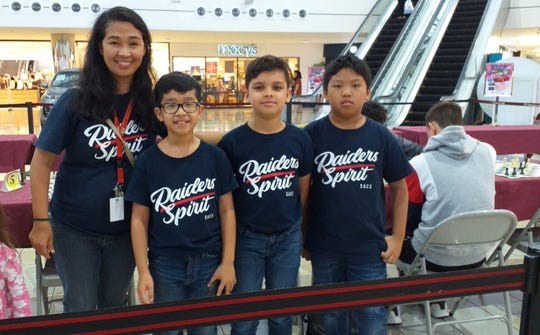 St. Anthony Catholic School members during the National Students Rapid Chess Tournament held May 17 at Micronesia Mall, Dededo.