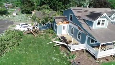 Indiana And Ohio Tornado See Damage In Celina Dayton And Pendleton