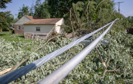 Indiana And Ohio Tornado See Damage In Celina Dayton And