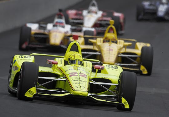 Simon Pagenaud (22) of Team Penske during their practice session for the Indianapolis 500 at the Indianapolis Motor Speedway on Monday, May 20, 2019.