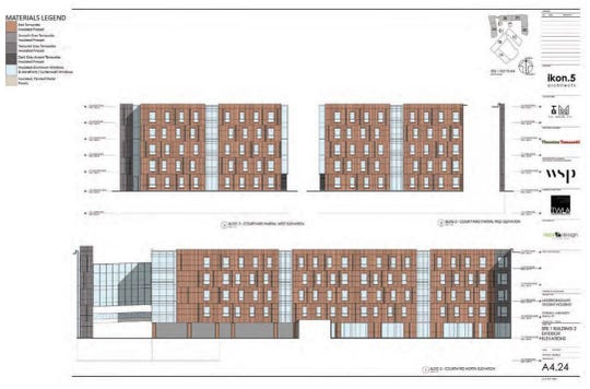 Early elevations for NCRE project at Cornell University.