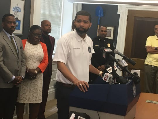 Jackson Mayor Chokwe Antar Lumumba defended Chief James Davis at a press conference on May 28, 2019.