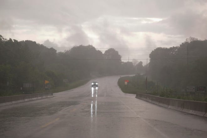 Severe weather moves through Carroll County on Monday, May 27, 2019.
