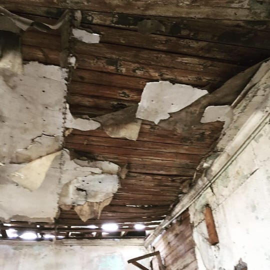 Inside the Merle Beach School, on South DeWitt Road in St. Johns. It was built in 1865. It functioned as a one-room schoolhouse until 1966. Now it's for sale.