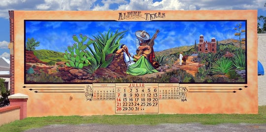 Mural in downtown Alpine, Texas.