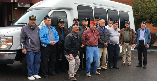 Thirteen members of the Richland County Korean War Veterans Association Chapter 51 visited the National Veterans Memorial and Museum in Columbus on May 23. Richland County Veteran Services Commission director Ken Estep drove the bus. The veterans also enjoyed a meal at the Spaghetti Warehouse.