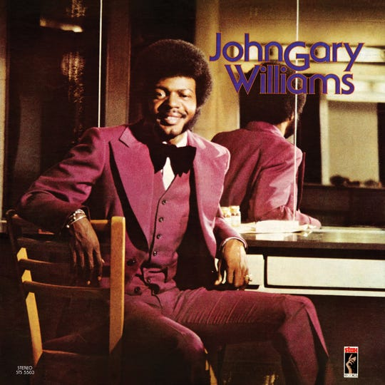 The cover of John Gary WIlliams' solo album.