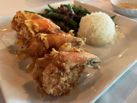 Coconut tempura shrimp from Fin Bistro, Marco Island.