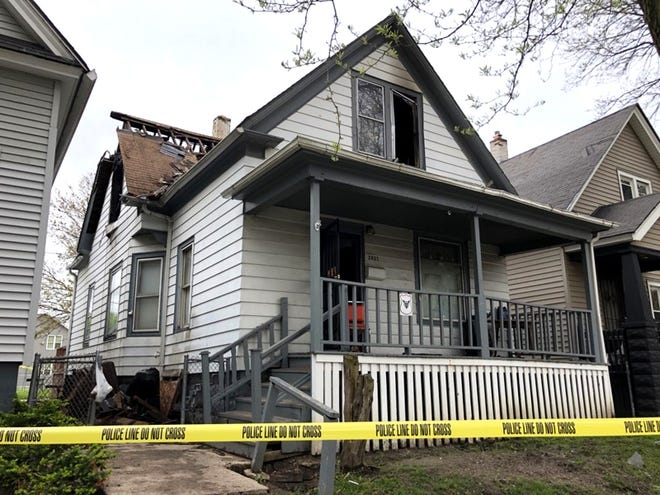 Scene of the fatal house fire in the 2800 block of North 16th Street.