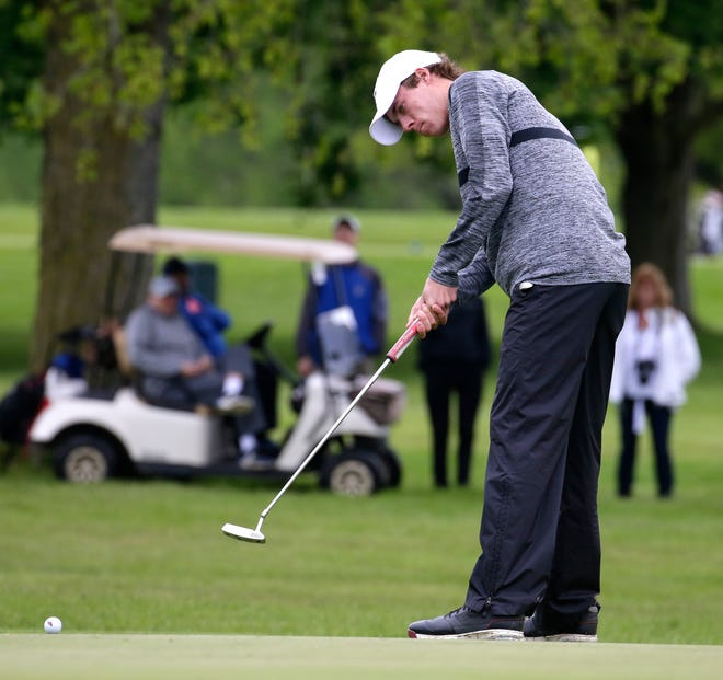 Danny Sanicki of Menomonee Falls putts at the Wanaki Golf Course in Menomonee Falls. The course is slated to close after the 2019 golf season.
