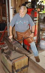 In his creative metalworking, Jim Davis has three treasured antique anvils, all with a story to tell.