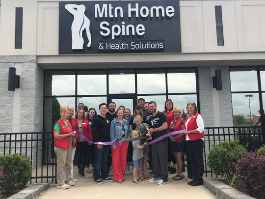 The Mountain Home Area Chamber of Commerce recently cut the ribbon for Mountain Home Spine and Health Solutions at 1180 Hometown Commons. Call (870) 701-5008 for a free consultation. No referrals are needed. Their chiropractors use a team approach to deal with problems of the spine and can help with: neck and back pain; headaches/migraines; bulging/herniated disc; pain, weakness, numbness in arms or legs; spinal remodeling (Chiropractic BioPhysics); spinal decompression therapy; cold laser therapy; scoliosis, management, rehab and corrective bracing (ScoliBrace); and weight loss, lose 2 to 4 pounds per week (Ideal Protein).