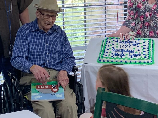 Loyd Collins, the second-oldest veteran in Louisiana, celebrated his 107th birthday on Saturday.