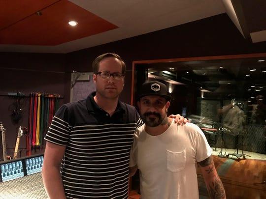 Montgomery native mixing engineer Chris Bethea and AJ Mclean of the Backstreet Boys.