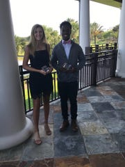 The First Tee of Naples/Collier announced its second annual college scholarship awards on May 22 at The Quarry. The two scholarships are $10,000 each and were awarded to Kelli Kragh of Estero and Darhyl Alusma of Golden Gate.