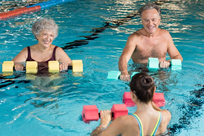 National Senior Health & Fitness Day is the nation's largest annual health and wellness event for older adults, encouraging activities such as water aerobics.