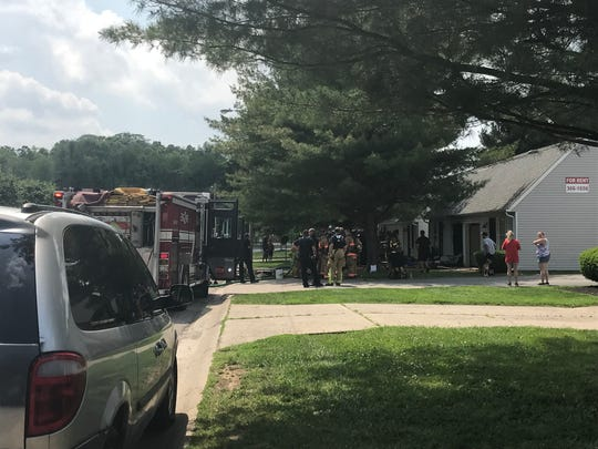 Licking County fire crews responded to a reported fire on Glenbrook Drive in Newark on Tuesday, May 28, 2019.