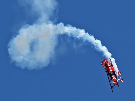 Jason Flood, a Franklinville, New Jersey native, is scheduled to perform at the 2019 Greenwood Lake Air Show in his modified red and white Pitts.