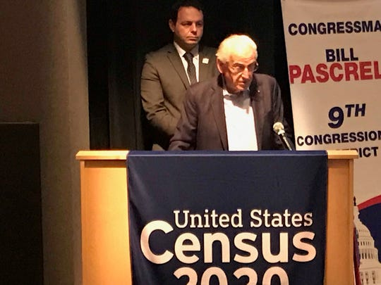 Paterson Mayor Andre Sayegh and U.S. Congressman Bill Pascrell, D-Paterson, at a U.S. Census event held in Paterson, where they both talked about the importance of the count prior to online applications being filled out by community members who want to work for the U.S. Census.