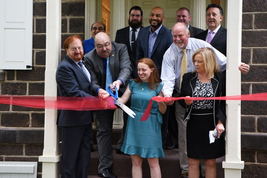 The John W. Rea house reopens after renovations as the Passaic County Arts Center. The ribbon cutting ceremony is held in Hawthorne on Tuesday May 28, 2019.