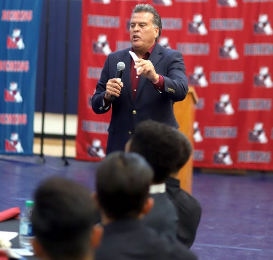 Former Deming High Wildcat standout Ernest Viramontes was the keynote speaker at the second annual DHS All-Sports Banquet on May 21. Viramontes is now the Athletic Director for the Las Cruces Public Schools.