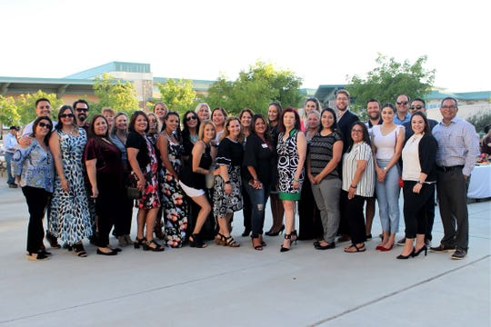 "The 26th class of Leadership Las Cruces at the ""Linking Hands: Helping Our Homeless Youth"" fundraiser at Doña Ana Community College, on Tuesday, April 30, 2019."