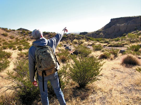 David Soules leads a Back by Noon hike in 2013. Soules was recently appointed to the New Mexico Game Commission.