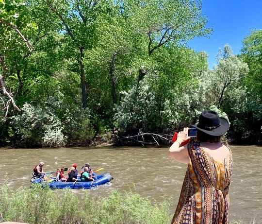 Rafting is a spectator sport at the annual Riverfest celebration in Berg Park East. The 2019 festival attracted thousands due, in part, to high river waters and mild temperatures.