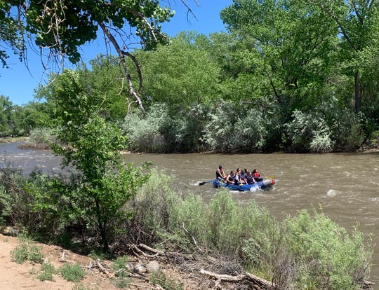 The high, fast waters of the Animas River carried a lot of happy rafters as the 2019 Riverfest celebration brought thousands to Berg Park East Saturday, May 26, 2019.