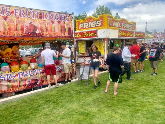 There was plenty of food for sale at the 2019 Riverfest celebration in Farmington's Berg Park East.