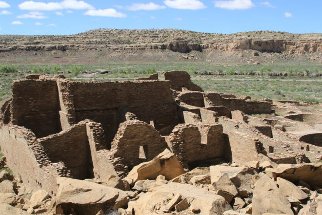 Pueblo Bonito is pictured, Tuesday, May 28, 2019, at Chaco Culture National Historical Park.
