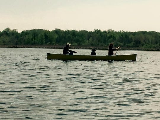 Canoeing at Collins Marsh