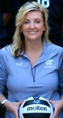Marana Mountain View boys volleyball head coach Lindsey Spivey