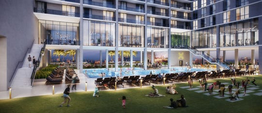 The X Phoenix development will include a 50,000-square-foot outdoor pool deck, which will be open to the public.